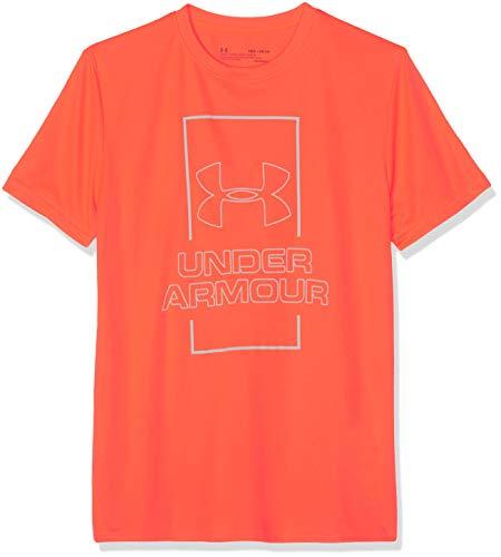 Under Armour Jungen Vertical Box Tee Kurzarmshirt, Orange, YXL (Armour Kind Under)