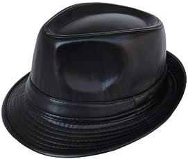 Krystle Unisex Imported Stylish Fashionable Cowboy Leather Fedora Hat Black