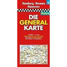Die Generalkarte Extra Hamburg, Bremen, Hannover 1:200 000