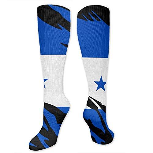 ouyjian Zerrissene Honduras-Flaggen-Kniehohe Sport-Kompressions-Lange Strümpfe für Baseball-Reise