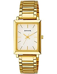 Sonata Analog White Dial Men's Watch NM7078YM01 / NL7078YM01