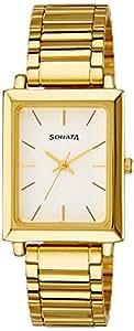Sonata Analog White Dial Men's Watch -NK7078YM01