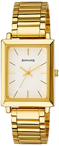 Sonata Analog White Dial Men's Watch -NK7078YM01