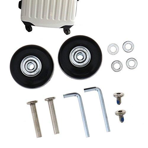Ensemble de 2–4Valise faciles à Roues essieux Deluxe réparation OD 45mm en Caoutchouc en métal