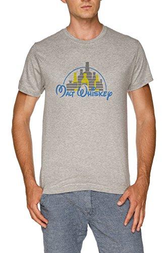 (Malt Whiskey Herren Grau T-Shirt Größe XXL   Men's Grey T-Shirt Size XXL)