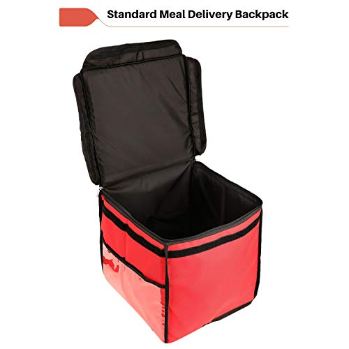 999 Standard Insulated Meal Delivery 47L Bag (RED) Branded Premium Quality Food Carry On Bike Pickup Backpack