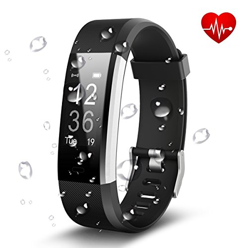 Fitness Trackers,Antimi Heart Rate Monitor Activity Tracker Smart Bracelet Bluetooth Pedometer Smartwatch for iPhone X 8 8 Plus Samsung S8 and Other Android or iOS Smartphones
