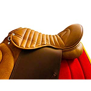 Radical Ledersattel für Ausdauer/Englischer Pferdesattel aus Synthetik, Braun