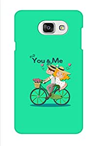 AMAN You & Me Green 3D Back Cover for Samsung Galaxy A7 2016