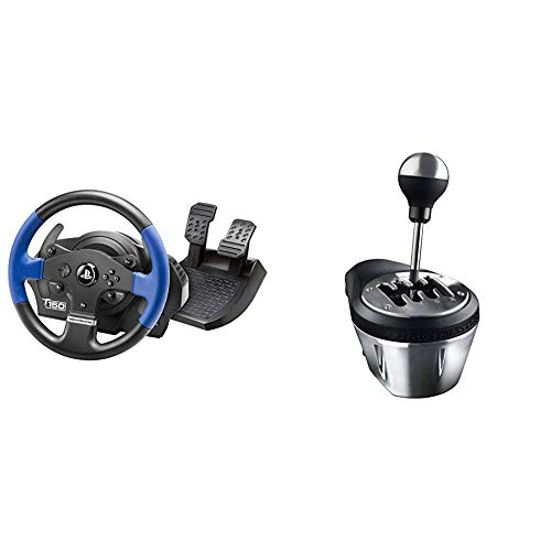 Thrustmaster T150 Force Feedback Volante - PS4/PS3/PC + Thrustmaster TH8A  Cambio per volanti (PS4, Xbox One, PS3, PC - Windows 8, 7, Vista & XP)