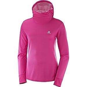 SALOMON Damen Langarm-Sportshirt mit Kapuze, Agile LS Hoodie, Synthetik-Mischgewebe
