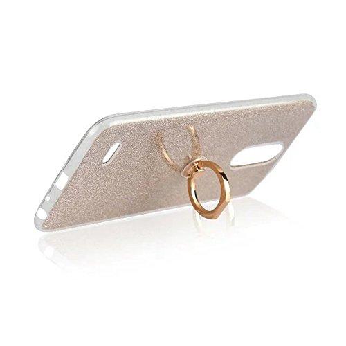 Soft Flexible TPU Back Cover Case Shockproof Schutzhülle mit Bling Glitter Sparkles und Kickstand für LG STYLUS 3 und K10 Pro ( Color : Pink ) Gold