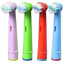 oral-q eb10 a para niños con cabezales de cepillo de dientes eléctrico estándar para