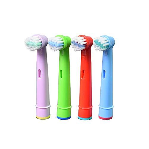 oral-q eb10 a für Kinder mit Köpfe Standard Elektrische Zahnbürste für Braun Oral-B - -4,12pcs (3packs) zufällige farbe