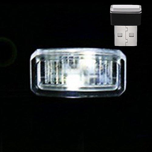 lampada ad alta luminosit/à auto piede GEZICHTA auto USB atmosfera luce mini USB wireless LED interni auto luci di illuminazione atmosfera decorazione luce blue light per auto notebook etc