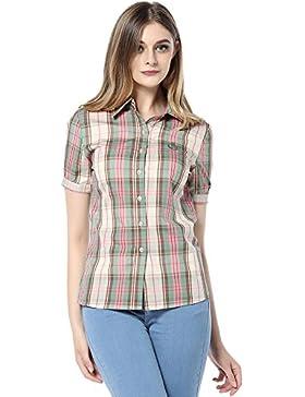 ASAP Mujeres De Manga Corta De Algodón Plaid Camisas 1700BL