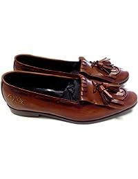 scarpe uomo classiche, mocassino slippers con frangia e nappine personalizzabili
