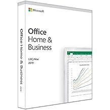 Microsoft Office Home & Business 2019 | il pagamento avviene una sola volta | si installa su 1 PC (Windows 10) o Mac  |1 licenza commerciale | scatola