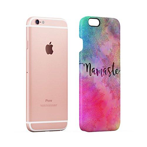 Henna White Lotus Blossom White Ink Splash Dünne Rückschale aus Hartplastik für iPhone 6 & iPhone 6s Handy Hülle Schutzhülle Slim Fit Case cover Rainbow Namaste