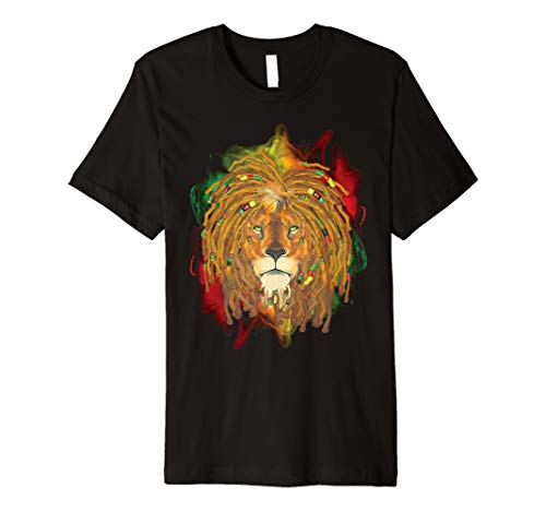 Rasta Löwe von Juda T-Shirt-Jamaika Rastafari Reggae