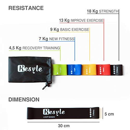 Zoom IMG-3 kesyle elastici fitness 5 bande