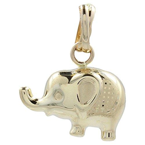 Colgante'Elefante' decorado en oro amarillo - Gioiello Italiano