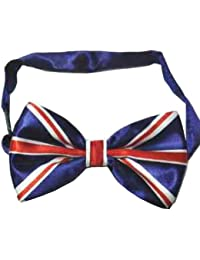 UNION JACK BOW TIE PRE TIED LUXURY AND ADJUSTABLE SILKY SATIN NEW***SAME DAY POSTAGE***