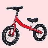Kinder Fahrrad,Schiebe-LKW Kostenloser fahrradverleih fuß Baby Walker Zwei rollschuh Fahren-Rot 34.6Zoll