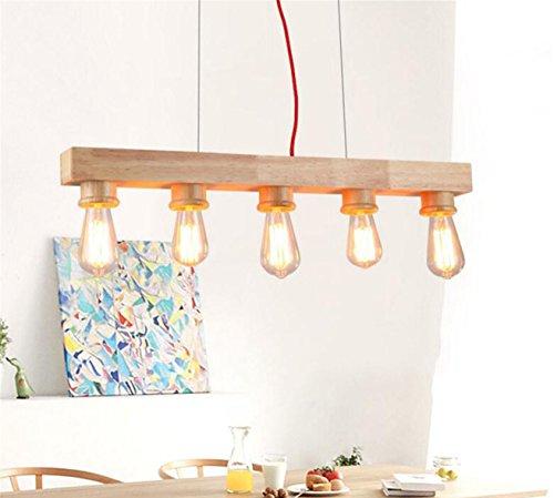 Pendelleuchte Esstisch Pendellampe Holz Lampe Hängeleuchte Lang