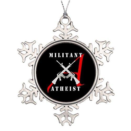 7. Gener Personalisierte Familie Weihnachten Schneeflocke ornaments Militant Atheist Schwarz Weihnachtsbaum und Dekorationen Atheisten