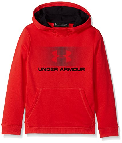 Under Armour Jungen CTN French Terry Hoody Oberteil, Red, XS Red French Terry