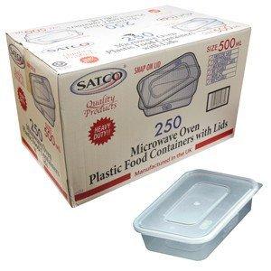 Swoosh Ensemble de 10 barquettes avec couvercle pour contact alimentaire compatible congélateur lave-vaisselle et micro-ondes