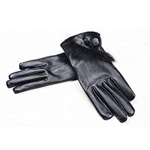 419ZnvgaJvL. SS300  - Ystms Fashion Women Lady Winter Warm Leather Driving Soft Lining Gloves Mitten