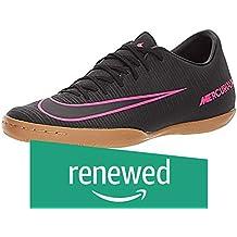 (Renewed) Nike Men's MercurialX Victory VI IC Indoor Soccer Shoe (Sz. 10) Black, Pink