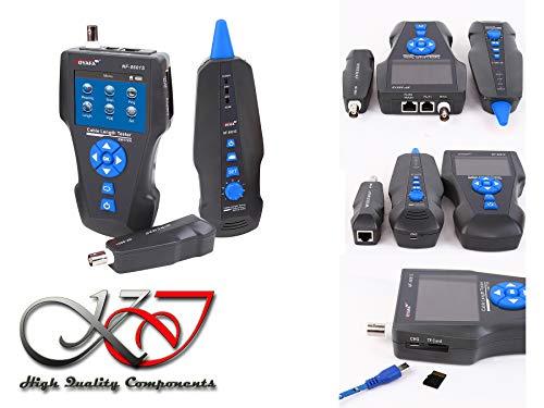 KALEA-INFORMATIQUE Netzwerktester RJ45 RJ11 USB BNC für Länge Layout Erkennung PoE Ping. Speicherung und Export der Tests mögliche. Lithium-Akkus. TDR Technologie