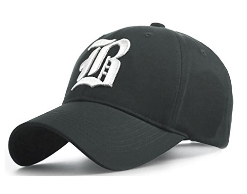 7bf7021dd63 4sold Casual Baseball Gothic B Letter Cap Caps Snap Back Hat Hats Snapback  (B gray white) - Buy Online in Oman.