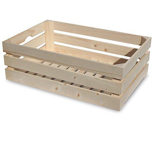 Preisvergleich Produktbild Generic YC-AMD2-151126-35 40x20cme Deko Obst Kiste Deko Obstkiste Holzkiste Apfelkisten Weinkiste Holzbox 60x40x20cm Holzkiste W