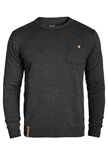 INDICODE Demarcus - Pull en Maille- Homme Charcoal Mix (915)