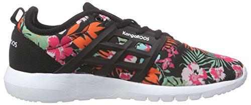 KangaROOS - K-x 8203, Scarpe da ginnastica Donna Multicolore (green flower 806)