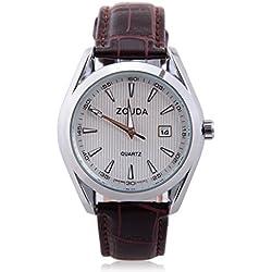 Mann, Quarz Armbanduhr, Mode, Casual, Classic, Leder, W0331