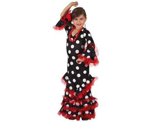 Imagen de atosa  disfraz de sevillana para niña, talla 5  6 años 8422259071464