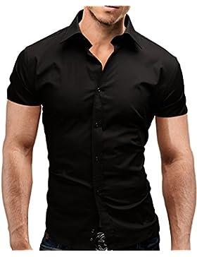 [Sponsorizzato]Merish Camicia Uomo Slim Fit,Camicia manica corta adatto per tutte le occasioni,casual e chic 13 diversi Colori...