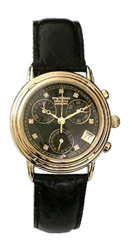 Krug Baumen Principle Damen-Uhr, Diamant, Gold, schwarzes Zifferblatt und Armband, 150573DL