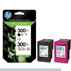 2 x HP n° 300 XL (noir et couleur)