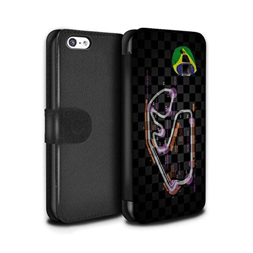 Stuff4 Coque/Etui/Housse Cuir PU Case/Cover pour Apple iPhone 5C / Multipack (19 Pack) Design / 2014 F1 Piste Collection Brésil/São Paulo
