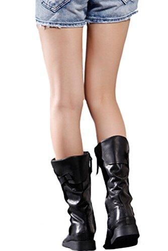 Signore Vogstyle nuovi stivali da equitazione in pelle casuale Art 1 Schwarz
