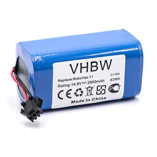 vhbw Li-Ion batería 2900mAh (14.8V) para Robot limpiasuelos Robot autónomo de Limpieza Eufy Robovac 11, 11S