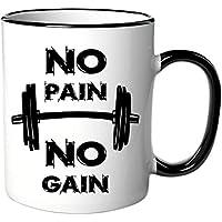 Taza con texto/inscripción No Pain no gain