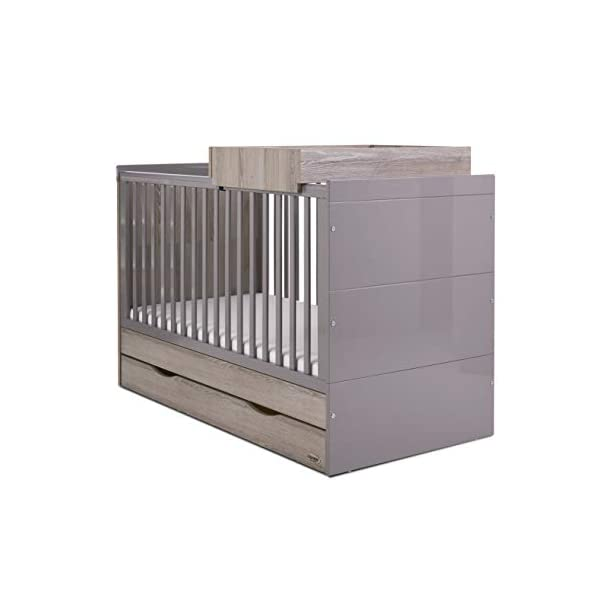 Obaby Madrid Changing Top - Eclipse Obaby Suitable from birth to approximately 12 months Versatile changing top to accompany madrid cot bed and/or storage unit Can accommodate a changing mat up to 73.5 x 51.5cm (available separately) 3