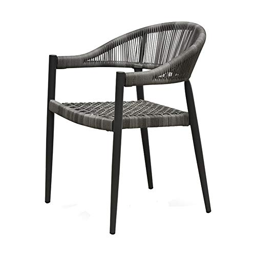 BBSYHUMM Balkon Wicker Stuhl, Garten Hof/Sonnenschein/Patio Lounge Tisch, Kaffee Outdoor Stuhl, PE Rattan Stuhl, (Size : 56x58x78cm) -
